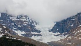 Облачные небеса над большими ледниками в яшме Стоковые Фотографии RF
