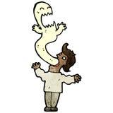 обладаемый человек шаржа Стоковое Фото