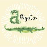 облегчения Письмо Алфавит милых детей животный в векторе Смешные животные шаржа также вектор иллюстрации притяжки corel бесплатная иллюстрация