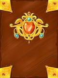 Обложка книги волшебства фантазии Стоковая Фотография