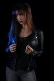 Обложка книги для романа вампира - красивый представлять брюнет Стоковая Фотография RF