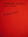 Обложка рассказов holmes sherlock длинных Стоковое Изображение