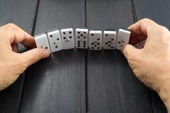 Обломоки игры домино Стоковое Изображение RF