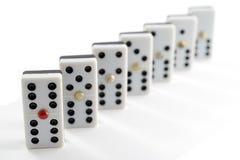 Обломоки игры домино Стоковое Изображение