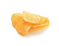 обломоки изолировали белизну картошки Стоковое Фото