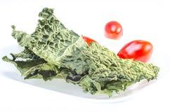 Обломоки листовой капусты. Стоковые Изображения RF