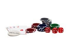 обломоки карточек играя в азартные игры играть Стоковая Фотография RF