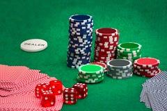 обломоки карточек играя в азартные игры играть Стоковое фото RF
