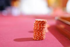 Обломоки красного цвета казино Стоковые Изображения