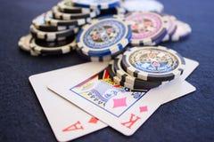 Обломоки на играя карточках стоковая фотография