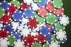 Обломоки покера играя в азартные игры Стоковое Фото