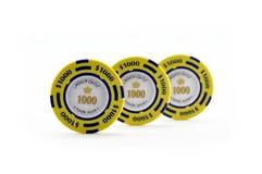 Обломоки покера стоковое изображение
