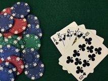 Обломоки покера x Стоковое Изображение