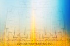 Обломоки предпосылки микроэлектроники цвета Стоковые Фото