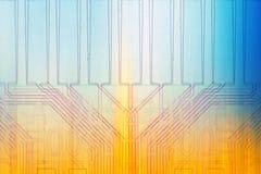 Обломоки предпосылки микроэлектроники цвета Стоковое Изображение RF