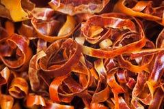 Обломоки стручков красного перца chili Кайенны Стоковая Фотография