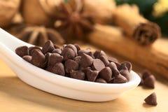 Обломоки шоколада стоковые фото