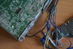Обломок, микросхема, микросхема, интегральная схемаа Стоковое фото RF
