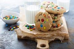 Обломок шоколада и печенье конфеты Стоковое Фото