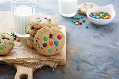 Обломок шоколада и печенье конфеты Стоковое Изображение RF