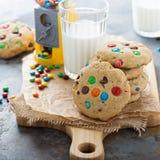 Обломок шоколада и печенье конфеты Стоковое Изображение
