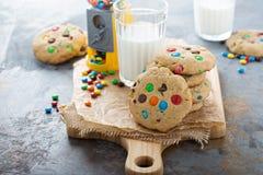 Обломок шоколада и печенье конфеты Стоковая Фотография