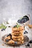 Обломок шоколада и печенья голубик Стоковые Фотографии RF