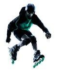 Облопачивание ролика конькобежца ролика человека встроенное Стоковая Фотография