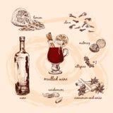 Обдумыванное вино и свои компоненты