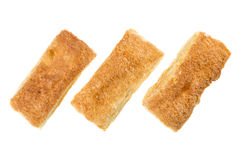 3 облупленных печенья изолированного на белой предпосылке Стоковое Фото