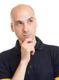 облыселый думать человека Стоковая Фотография RF