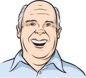 облыселый усмехаться портрета человека иллюстрация вектора