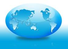 Овальный глобус Стоковая Фотография RF