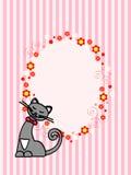 овал котенка карточки Стоковое Изображение RF