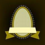 Овальная рамка в форме яичек Стоковое Изображение