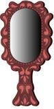 Овальное коричневое зеркало иллюстрация штока