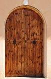 Овальные деревянные двери Стоковая Фотография