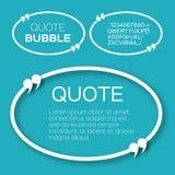 Овальный пузырь цитаты Стоковое фото RF