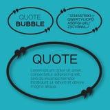 Овальный пузырь цитаты Стоковые Изображения RF