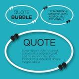Овальный пузырь цитаты Стоковая Фотография