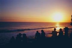 Овердрайв захода солнца стоковое фото rf