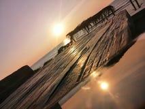 Овердрайв захода солнца стоковые изображения rf