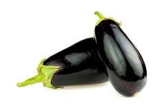 2 овоща баклажана изолированного на белой предпосылке Стоковое фото RF