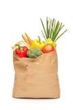 овощи бакалеи мешка свежие полные Стоковые Изображения RF