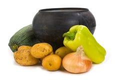 овощи бака литого железа Стоковое Фото