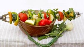 овощи барбекю готовые Стоковое фото RF