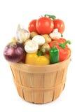 овощи бушеля корзины деревянные Стоковая Фотография