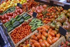 Овощи витрины Стоковая Фотография
