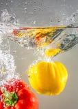 Овощи выплеска Стоковое Изображение