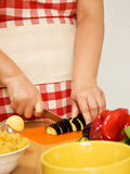 овощи вырезывания Стоковые Изображения RF
